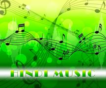 Hindi Music Means Song Soundtrack And Audio Stock Illustration