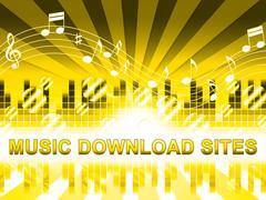 Music Download Sites Means Internet Soundtrack Websites Stock Illustration