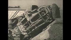 Vintage 16mm film, 1938 Coal mine surface machine cu reveal Stock Footage