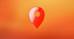 Map Pin Red 3d Icon Stock Footage