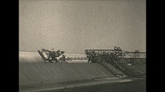 Vintage 16mm film, 1938 Coal mine surface, establishing shot Stock Footage