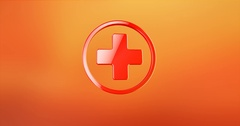 Medical Cross Red 3d Icon Stock Footage