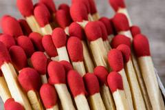 Matchsticks  with filter effect retro vintage style Stock Photos