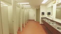Real estate commercial washroom 4k Stock Footage