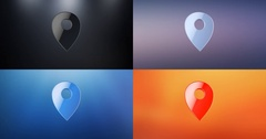 Map Pin 3d Icon Stock Footage