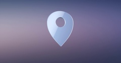 Map Pin Silver 3d Icon Stock Footage