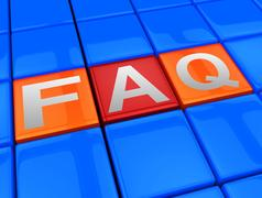 Faq Blocks Means Frequently Asked Questions 3d Illustration Stock Illustration