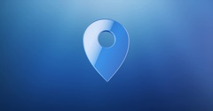 Map Pin Blue 3d Icon Stock Footage