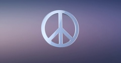Peace Silver 3d Icon Stock Footage