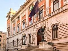 Palazzo Montecitorio Rome Stock Photos