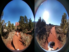 Bell Rock Hike Stock Footage