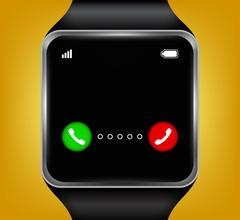 Smart watches accepting an incoming call Stock Illustration