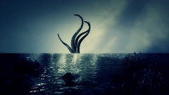 Mythical Kraken Giant Squid Tentacles Stock Footage