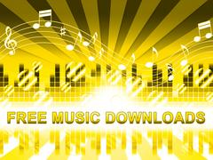 Free Music Downloads Shows No Cost Mp3 Stock Illustration