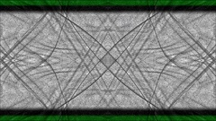 Abstract gray lines are filled in green color Stock Footage