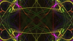 Synchronous motion multi-coloured pattern Stock Footage