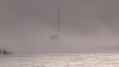 Lake effect snow squalls blowing inland Stock Footage