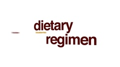 Dietary regimen animated word cloud. Stock Footage
