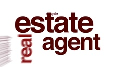 Estate agent animated word cloud. Stock Footage