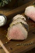 Homemade Herb Crusted Roast Beef Stock Photos