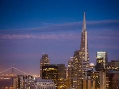 Lunar Eclipse over San Francisco Stock Footage