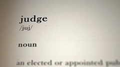 Judge Definition_animation Stock Footage