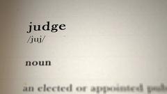 Judge Definition_animation Stock Footage