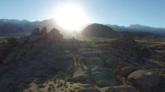 Aerial shot of scenic mountainous desert. Stock Footage