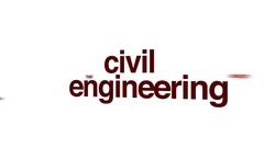 Civil engineering animated word cloud. Arkistovideo