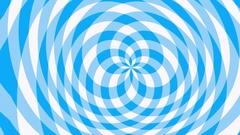 Circular blue Gingham pattern waving Stock Footage
