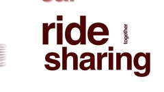Ride sharing animated word cloud. Stock Footage