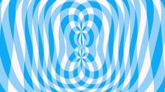 Circular blue Gingham pattern ripples Stock Footage