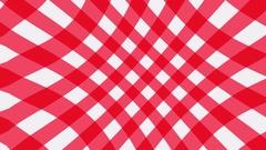 Red Trellis Gingham pattern waving Stock Footage