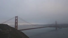 Time Lapse of Golden Gate Bridge - Fog Rolls, Ships Pass and Sun Sets in 4K Stock Footage