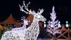 Christmas figures of deer from the garlands Stock Footage