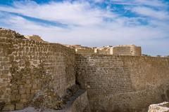 Bahrain Fort in Kingdom of Bahrain Stock Photos