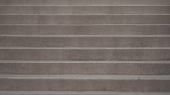 Vacant staircase outside a ski resort hotel in the mountains, slow motion. Stock Footage