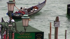 Gondoliere in Venice in Italy Stock Footage