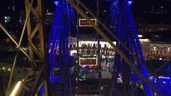 VIENNA, AUSTRIA POV shot of famous Prater Wiener Riesenrad Ferris Stock Footage