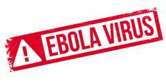 Ebola Virus rubber stamp Stock Illustration