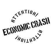 Economic Crash rubber stamp Stock Illustration