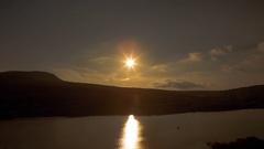 Sunrise in Crimea sunset in Sevastopol, Crimea mountains, Black Sea Stock Footage