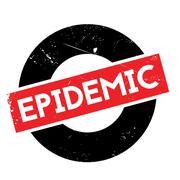 Epidemic rubber stamp Stock Illustration
