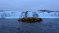 Footage - Faxi Waterfall In Iceland Stock Footage