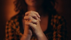 Hand gestures. Woman praying to god. Stock Footage