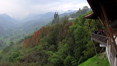 Viewpoint at Cocora Valley, Colombia Stock Footage