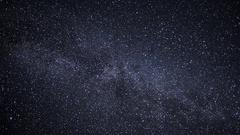 Millions of stars across the Milky Way galaxy Stock Footage