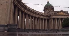 View of the Kazan Cathedral, Nevsky Prospekt Stock Footage