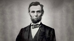 Abraham Lincoln Animated Photo Stock Footage