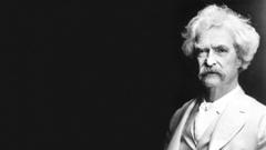 Mark Twain Animated Photo Stock Footage